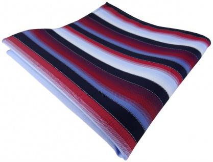 TigerTie Einstecktuch in rot bordeaux blau hellblau marine gestreift