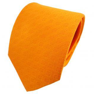TigerTie Satin Seidenkrawatte orange reinorange hellorange gemustert - Krawatte