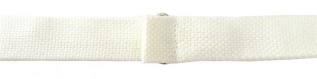 TigerTie Plastron Pique 2tlg Krawatte fertig gebunden in creme uni gemustert - Vorschau 5