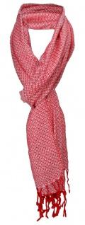 TigerTie Designer Schal in rot silber gemustert - Gr. 180 x 50 cm