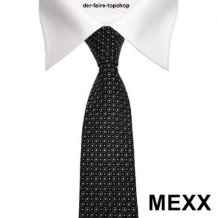 Mexx Krawatte Schwarz Silber Weiss viereckigen Punkten - Vorschau 2