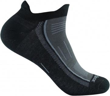 Wrightsock Profi Sportsocke Sneakers Low Tab -anti-blasen-system- schwarz Gr. S