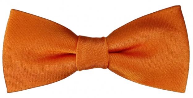 TigerTie Kleinkinder Baby Seidenfliege orange mit Gummizug - Fliege 100% Seide