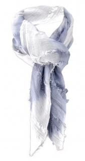 Halstuch in grau weiss gestreift - Schal 100% Baumwolle - Tuch Gr. 100 x 100 cm