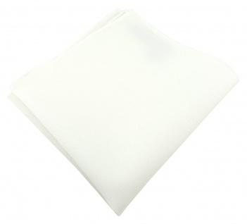TigerTie Einstecktuch aus 100% Baumwolle in cremeweiss - Einstecktuch 26 x 26 cm