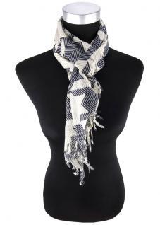 Halstuch in beige grau schwarz gemustert - Tuch Gr. 90 x 90 cm