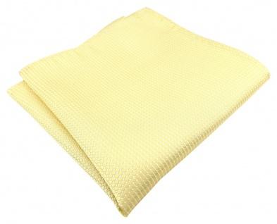 TigerTie Designer Seideneinstecktuch in gelb blassgelb silber gepunktet