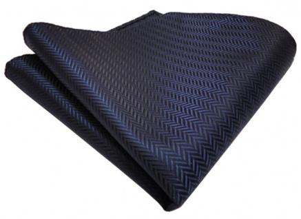 TigerTie Einstecktuch marine dunkelblau gestreift gemustert - Größe 25 x 25 cm