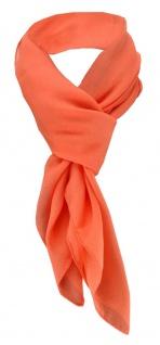 TigerTie Damen Chiffon Halstuch orange Uni Gr. 90 cm x 90 cm - Schal