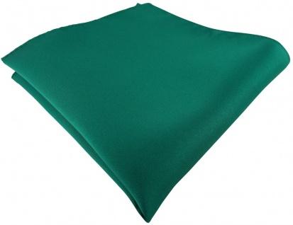 TigerTie Einstecktuch in grün dunkelgrün einfarbig Uni - Größe 26 x 26 cm