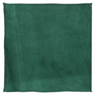 TigerTie Ledereinstecktuch in grün einfarbig Uni - Einstecktuch 100% Lammnappa - Vorschau 3