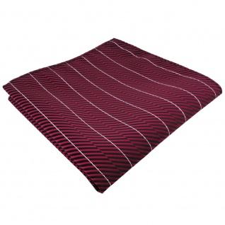 TigerTie Einstecktuch rot schwarz silber gestreift - Tuch Polyester