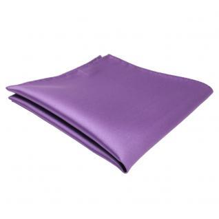 schönes TigerTie Einstecktuch lila flieder einfarbig - Tuch Polyester