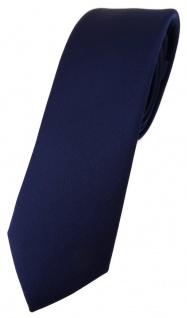 schmale TigerTie Designer Krawatte in marine einfarbig Uni - Tie Schlips