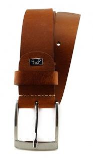 TigerTie - hochwertiger Ledergürtel braun - Bundweite 110 cm - 40 mm breit - Vorschau 2
