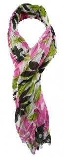 TigerTie Designer Schal in rosa grün dunkelgrün grau gemustert