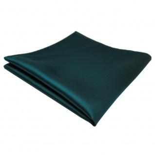 TigerTie Einstecktuch in grün dunkelgrün einfarbig - Tuch - Vorschau