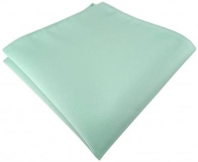 TigerTie Designer Einstecktuch in mint grün einfarbig uni Rips