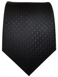 TigerTie Designer Seidenkrawatte schwarz kariert reine Seide / Silk - Krawatte - Vorschau 2