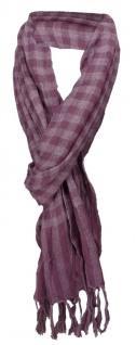 TigerTie Schal in lila purple kariert gemustert - Schalgröße 180 x 40 cm