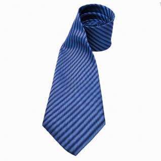 Mexx Seidenkrawatte blau dunkelblau gestreift - Krawatte Seide Silk