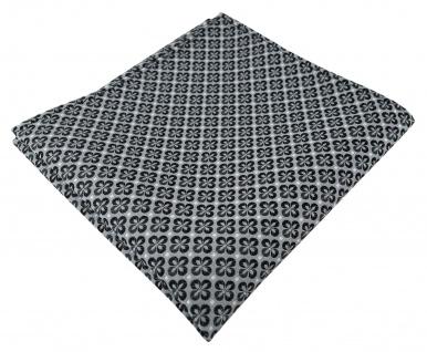 TigerTie Designer Einstecktuch in anthrazit silber schwarz gemustert