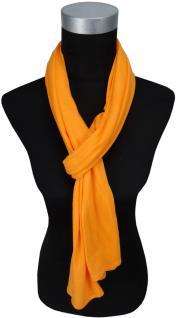 TigerTie Schal in orange uni einfarbig - Schalgröße 180 x 40 cm