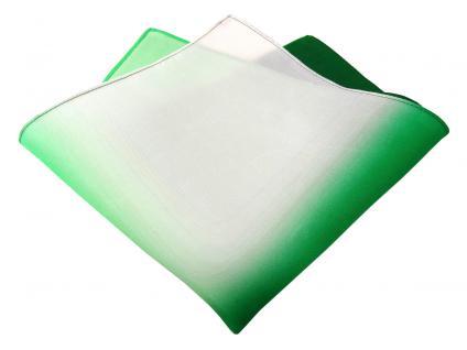 Multi TigerTie Designer Seideneinstecktuch in dunkelgrün grün weiss gemustert