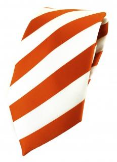 TigerTie Designer Krawatte in orange weiss gestreift