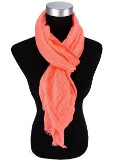 Damen Chiffon Halstuch in lachs orange Uni Gr. 180 cm x 50 cm - Tuch Schal