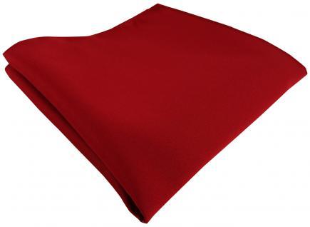 TigerTie Satin Einstecktuch in blutrot einfarbig Uni - Größe 26 x 26 cm