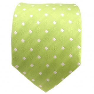 TigerTie Designer Seidenkrawatte grün hellgrün weiß gepunktet - Krawatte Seide - Vorschau 2