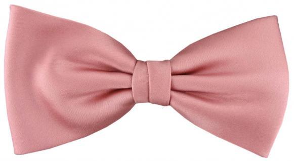 vorgebundene TigerTie Satin Fliege rosa hellrosa Uni einfarbig + Geschenkbox