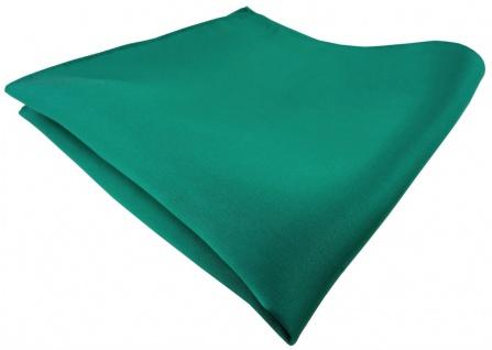 TigerTie Satin Seideneinstecktuch in grün einfarbig - Einstecktuch 100% Seide