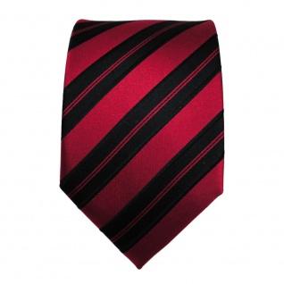 Designer Seidenkrawatte rot signalrot schwarz gestreift Krawatte Seide Tie - Vorschau 2
