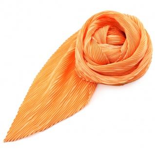 Damen Satin Raffschal dehnbar lachs orange ca. 80 x 70 cm - Tuch Halstuch Schal