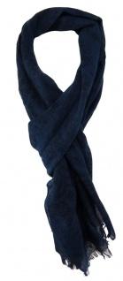 TigerTie Schal in petrol dunkelblau schwarz gemustert - 190 x 50 cm - 100% Wolle
