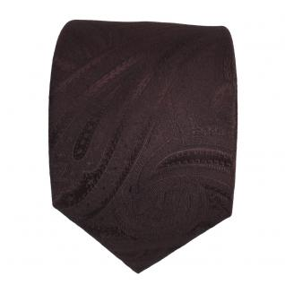 Designer Seidenkrawatte braun dunkelbraun paisley - Krawatte Seide Tie - Vorschau 2