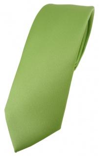 schmale TigerTie Designer Krawatte in hellgrün einfarbig Uni - Tie Schlips