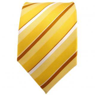 TigerTie Seidenkrawatte gelborange bronze silber weiß gestreift - Krawatte Seide - Vorschau 2