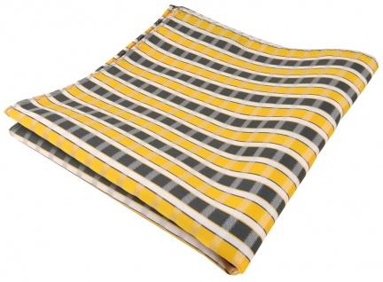 TigerTie Einstecktuch in gelb grau silber weiss gestreift