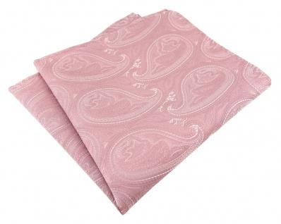 TigerTie Designer Einstecktuch in rosa altrosa silber Paisley gemustert