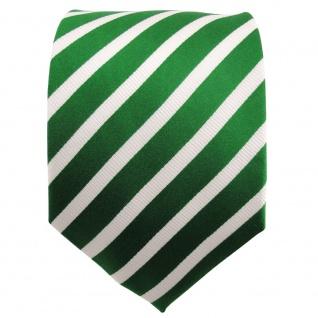 TigerTie Seidenkrawatte grün knallgrün silber gestreift - Krawatte Seide Binder - Vorschau 2