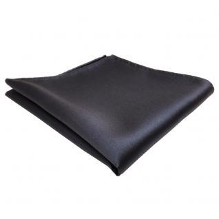 TigerTie Einstecktuch anthrazit dunkelgrau einfarbig - Tuch Polyester