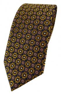 TigerTie Designer Krawatte in gold rosa silber schwarz gemustert