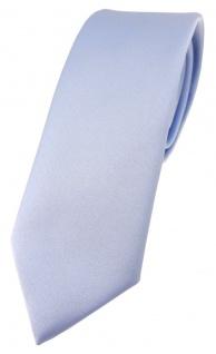 schmale TigerTie Designer Krawatte in hellblau einfarbig Uni - Tie Schlips