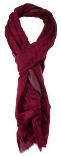 TigerTie Designer Schal in weinrot bordeaux einfarbig - Größe 180 x 70 cm