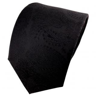 schöne TigerTie Designer Krawatte schwarz paisley gemustert - Tie Binder Cravate