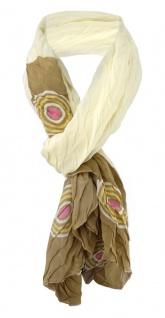 Damen Schal Faltenschal Halstuch in beige oliv rosa Gr. 145 cm x 45 cm - Tuch