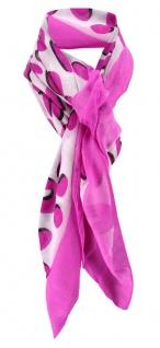 Halstuch in pink schwarz grau gemustert - Schalgröße 100 x 100 cm